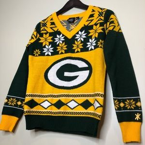 NFL Sweaters - Green Bay Packers NFL Ugly Christmas Sweater Small